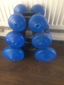 Dumbell sets blue colour