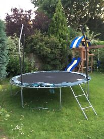 Jump king 10 foot trampoline used no net or surround padding