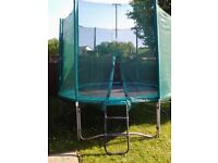 10ft Trampoline with enclosure, steps & anchor kit