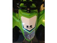 12v electric quad in green for kids