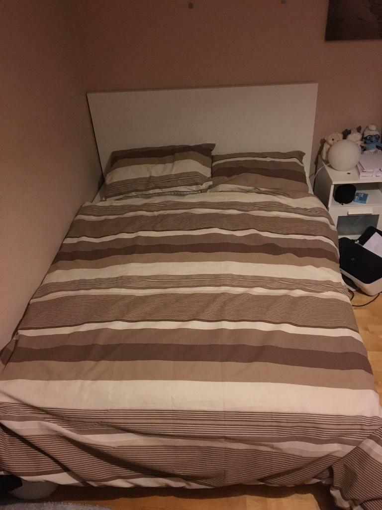 Free For Collection Ikea Double Bed With Memory Foam