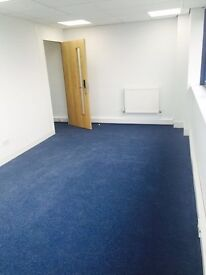 Office available to rent with car parking, all business rates included.