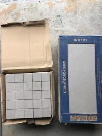 Beautiful Saloni grey floor/wall tiles & grout