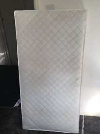 Hardly used toddler bed mattress
