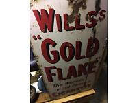 Will's gold flake Vintage Sign