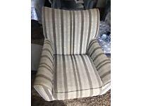 Grey striped chair