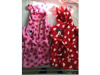 2 Minnie Mouse dressing gowns