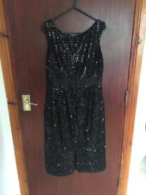 Black sequin dress per una size 8R