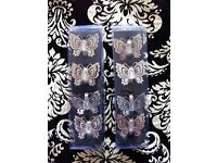 2 X BOXES OF BUTTERFLY NAPKIN RINGS