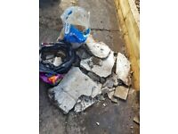 Small amount of broken concrete. Ideal for breaking and using as hard core.