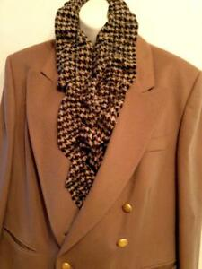 Oakville Aquascutum 100% Wool Jacket Womens 16 XL Camel Brown Double Breasted Made in UK Free scarf included