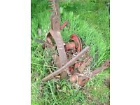 International finger bar mower + spares Massey ford harvester
