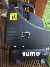 Sumo air compressor and tools for sale, needs a hose, all equipment brand new and only used once.