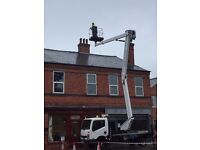 Cherry Picker Hire Chesterfield 20 Metre 300kg Basket capacity roof repairs Gutter cleaning leaks