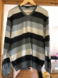 Mens Stripey Jumper XL from Next