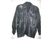 Ladies genuine leather jacket, black, size 12-14