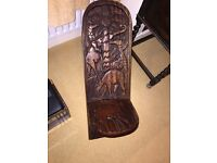 UNIQUE HAND CARVED AFRICAN ANIMAL CHILDS' CHAIR OR ADULT FOOT STOOL