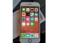 Rose gold and white iphone 6s 16gb unlocked immaculate!