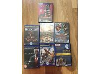 Pc computer and PlayStation 2 games