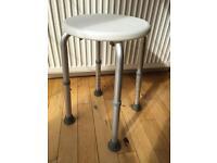 Adjustable stool / shower aid