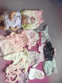 Baby Annabelle doll and clothes