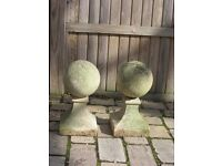 Pair of Haddonstone ball finials
