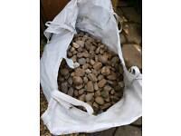 Large decorative garden pebbles