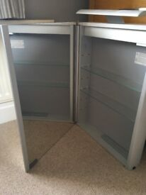Bathroom cabinet, almost new; 50cm x 70cm x 9.5cm. Sold as seen £30