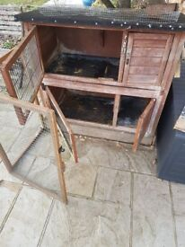 Rabbit hutch, with extra fox prevention ,