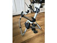 3-bike car rack for 4x4 spare tyre mounting