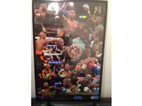FLOYD MAYWEATHER HAND SIGNED MONTAGE FRAMED WITH COA