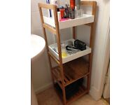 John Lewis 4 Tier Bathroom rack. Great condition. Can be easily dismantled. Wall mounts available.