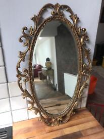 Vintage Atewell London Gold Ornate Mirror