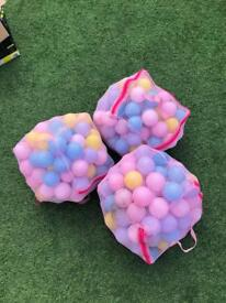 3 bags of ball pit balls
