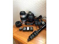 Sony SLT A55 Digital camera with lenses similar to canon nikon panasonic