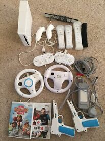 Nintendo Wii Console and accessories