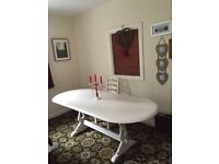 Shabby chic antique white table and four chairs