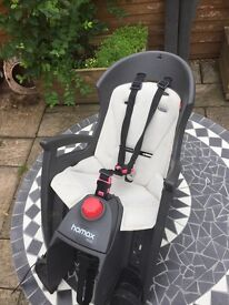 Children's bike seat and rear mounting rack