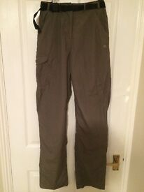 Brand new. Women's Craghoppers khaki outdoor trousers. Size 10 long
