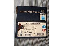 Grundfos central heating pump ups2 15-50/60 brand new in box