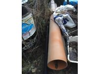 """2 x 3m 6"""" soil drain pipe. Unused from project."""