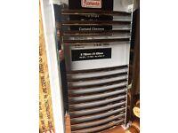 FLOMASTA CURVED TOWEL RADIATOR CHROME 700 X 400MM , brand new boxed