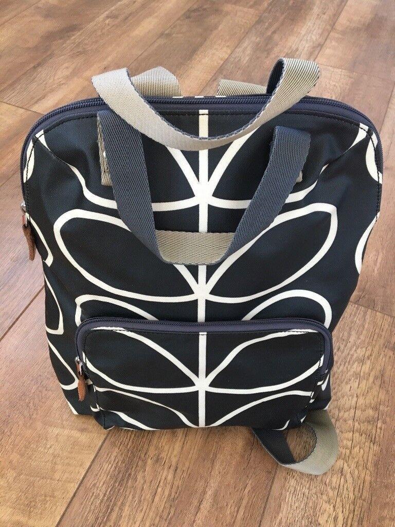 b552205df7b1 Orla Kiely Giant Linear Stem backpack - black