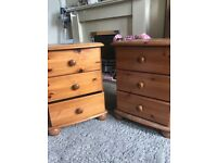 Set of Pine Bed Side Tables