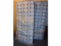 2 X CHILDRENS SINGLE BED MATTRESSES / BUNK BED MATTRESSES - AS NEW 6ft x 3ft 3ft