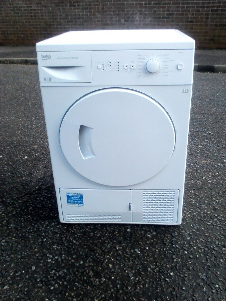 Condenser tumble dryer 8kg load in great condition .