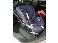 Cybex Aton baby car seat group 0+ and 2 Isofix bases