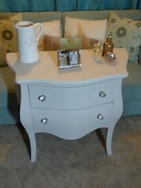 French style bow fronted chest of drawers
