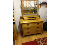 Antique Oak Dresser with mirror BARGAIN £250