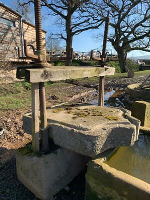 Antique Reclaimed Herefordshire Stone Cider Press and Base Stone Garden Feature